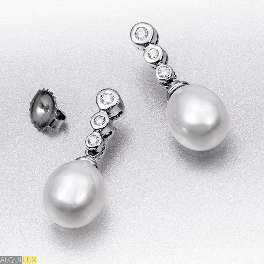 9b9adc877d97 Pendientes diamantes y perlas - ALQUILUX
