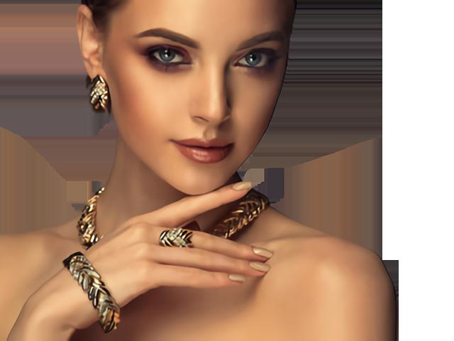 esposa Fuerza escaldadura mujer con joyas Publicidad Sin lugar a dudas Rápido